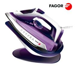 FERRO DE ENGOMAR SEM FIOS 2 EM 1 COM BASE 2600W ROXO FAGOR