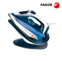 FERRO DE ENGOMAR SEM FIOS 2 EM 1 COM BASE 2600W AZUL FAGOR