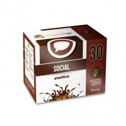 CAIXA DE 30 PASTILHAS CROWD COFFEE SOCIAL ARABICA 100% ITALIANO