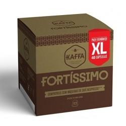 CAIXA DE 40 CÁPSULAS DE CAFÉ KAFFA FORTISSIMO NESPRESSO INTENSIDADE 10 XL