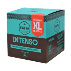 CAIXA DE 40 CÁPSULAS DE CAFÉ KAFFA INTENSO NESPRESSO INTENSIDADE 10 XL