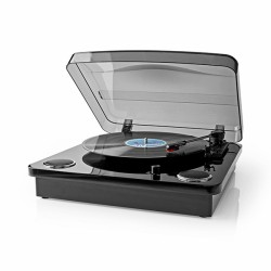 Gira-Discos Nedis 18W Bluetooth 33 / 45 / 78 Rpm Conversor MP3 e PC e Bateria