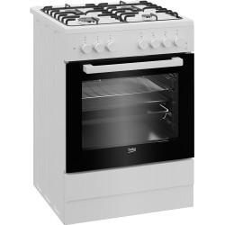 Fogão Gás Beko FSE 62110 DW - Forno Multifunções (6) Branco 60 x 60 cm