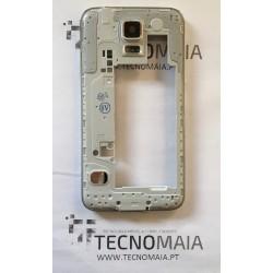 Carcaça traseira Samsung Galaxy S5 G900F com Aro em cinza