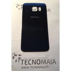 Tampa de Bateria Samsung S6 G920F Azul escura brilhante