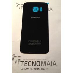 Tampa de Bateria Samsung S6 Edge G925F preta acabamento brilhante