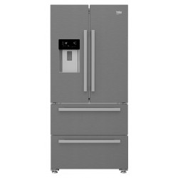 BEKO SIDE BY SIDE AMERICANO COM ICE MAKER 2 PORTAS 2 GAVETAS A++ GNE60530DX